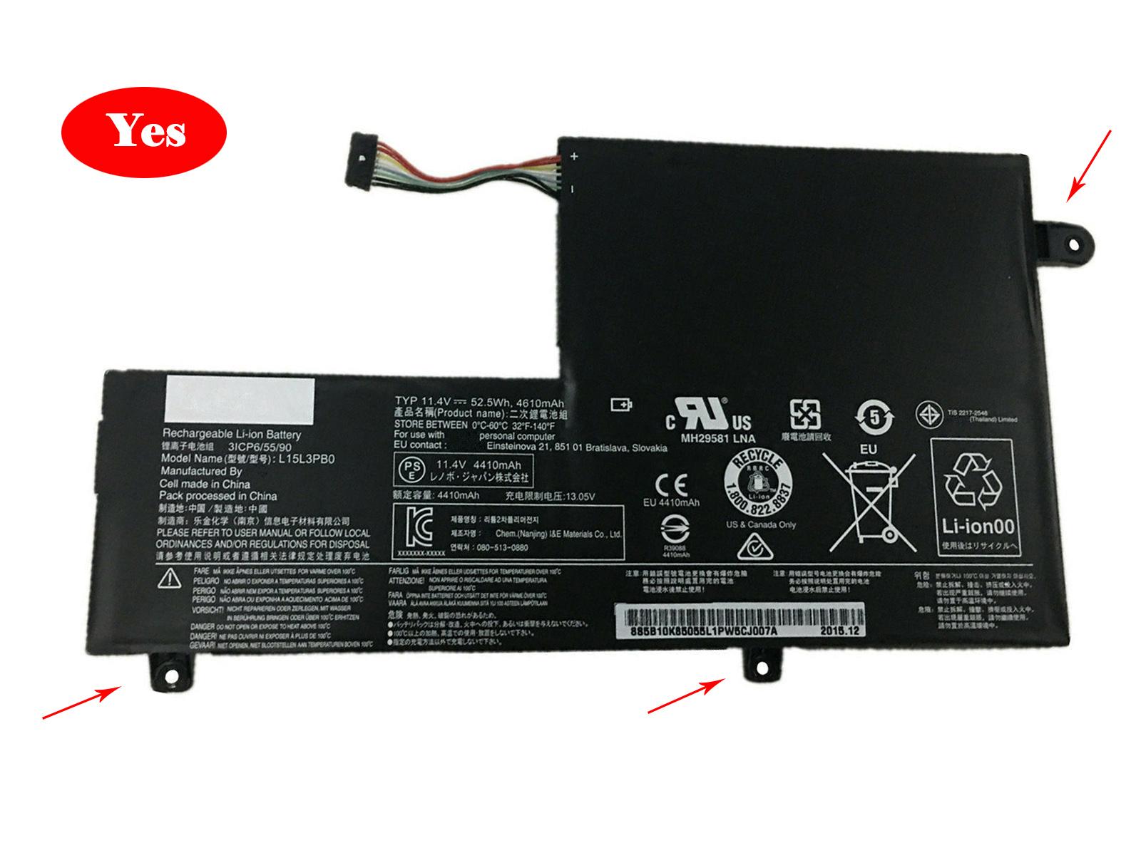 Lenovo L15L3PB0 accu