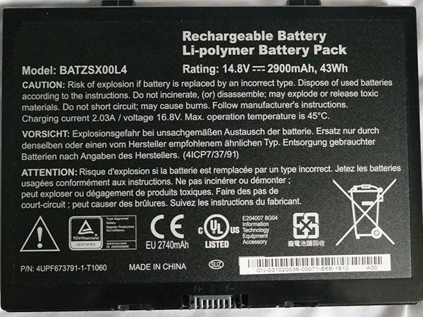 MOTION BATZSX00L4 laptop accu